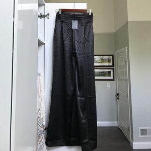 NBD (via Revolve) High Waisted long silk pants